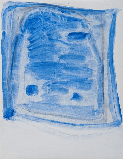 Sketchy Cobaltic Blue Flag, 2009 - Raoul De Keyser