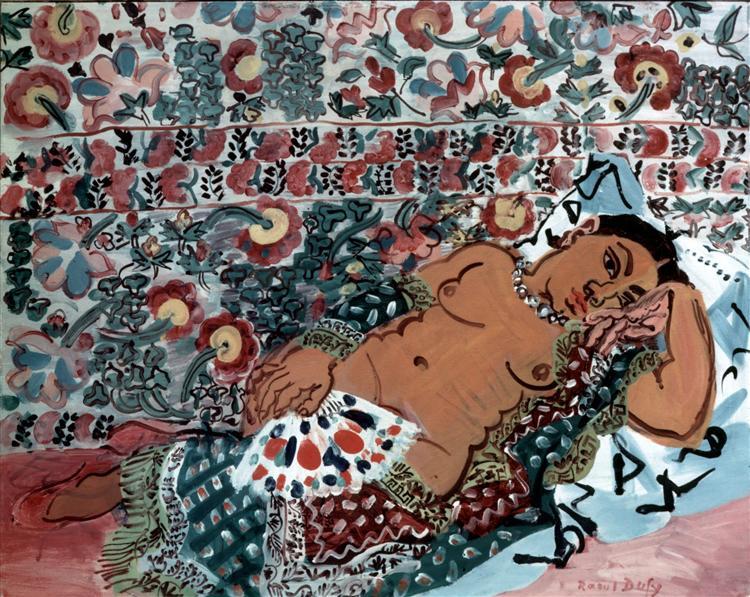 Indian woman, 1928 - Рауль Дюфі
