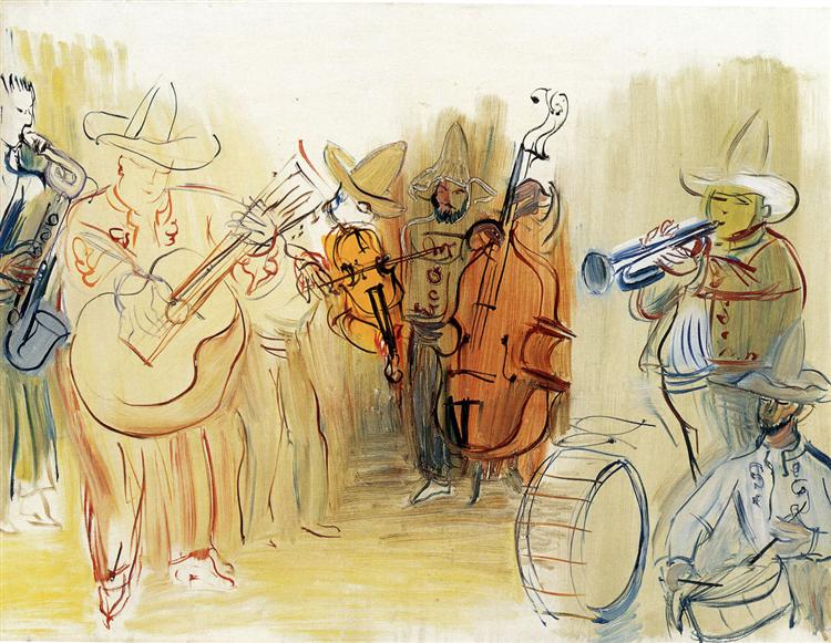 The Mexican Orchestra, 1951 - Raoul Dufy
