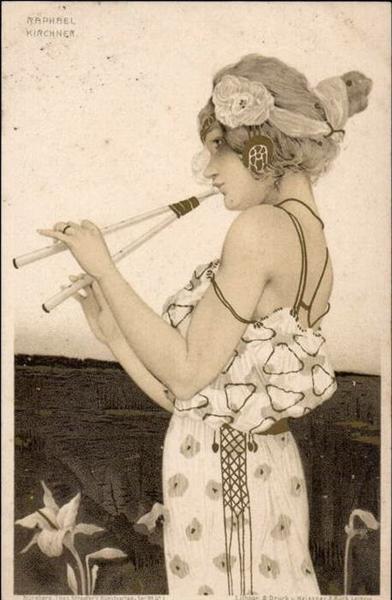 Greek Virgins, 1900 - Raphael Kirchner