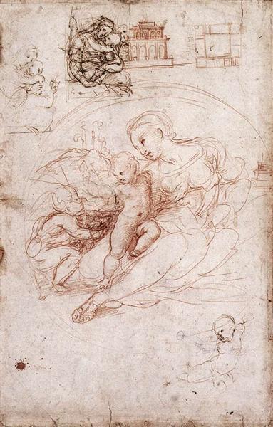 Madonna Studies, 1511 - 1513 - Raphael