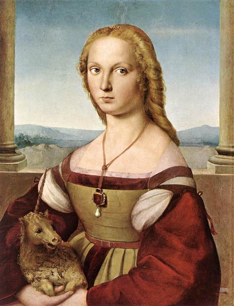 Portrait of a Lady with a Unicorn, c.1505 - 1506 - Raphael