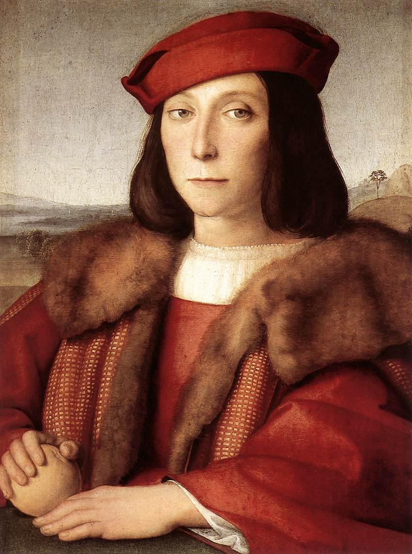 Portrait of a Man holding an Apple, 1500