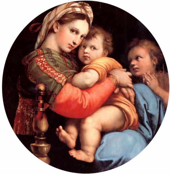The Madonna of the Chair, 1514 - 1515 - Raphael