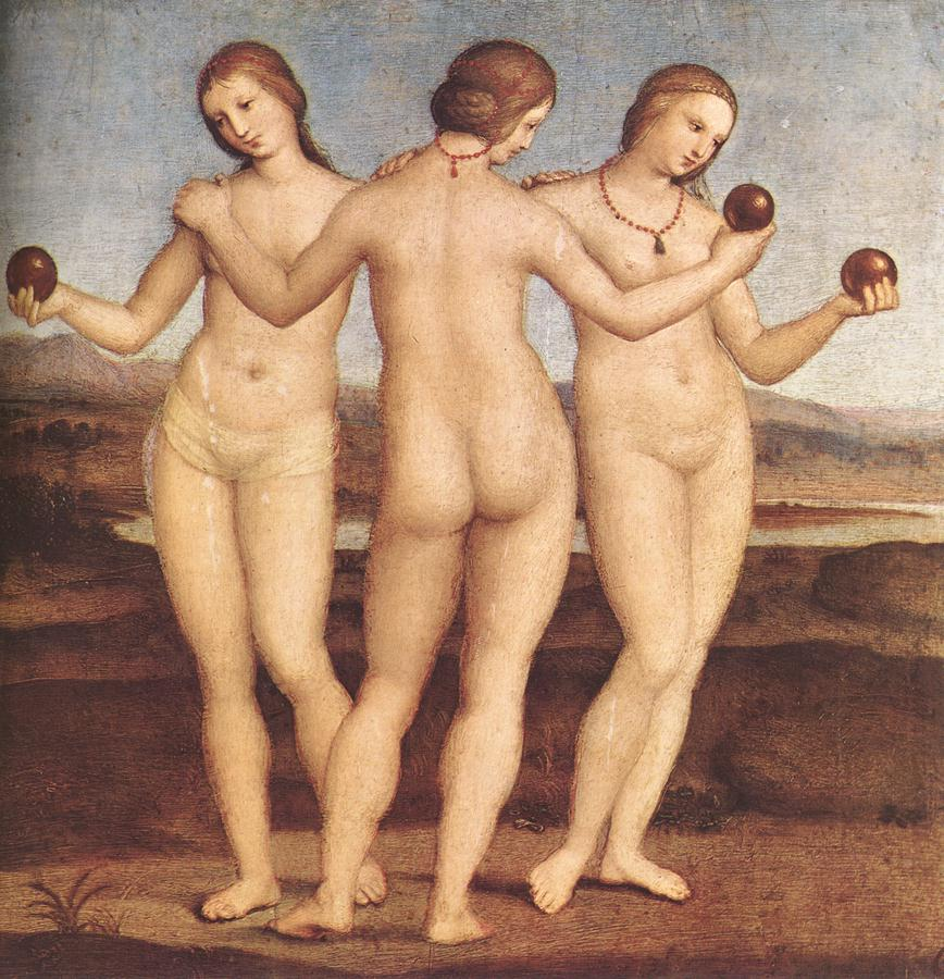 The Three Graces, Raphael, 1504-1505