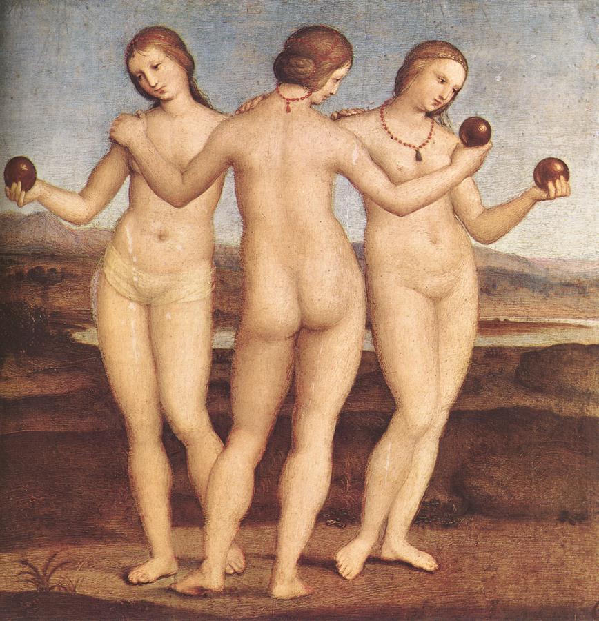 The Three Graces, Raphael, 1504-1505