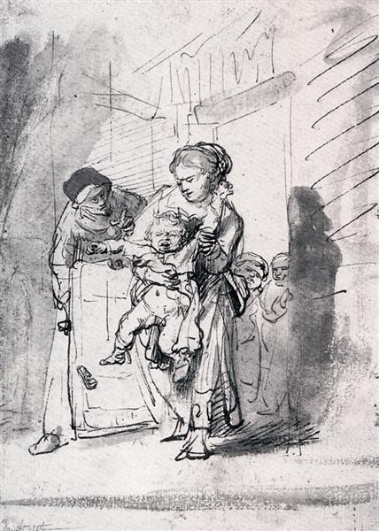 Child In A Tantrum, c.1635 - Rembrandt