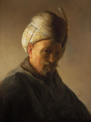 Old man with turban, c.1625 - Rembrandt