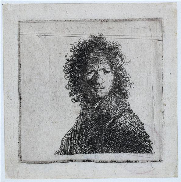 Self-portrait, Frowning, 1630 - Rembrandt