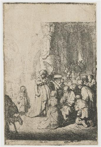 Simeon`s hymn of praise - Rembrandt