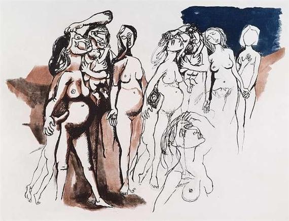 Hommage à Picasso, 1972 - Renato Guttuso