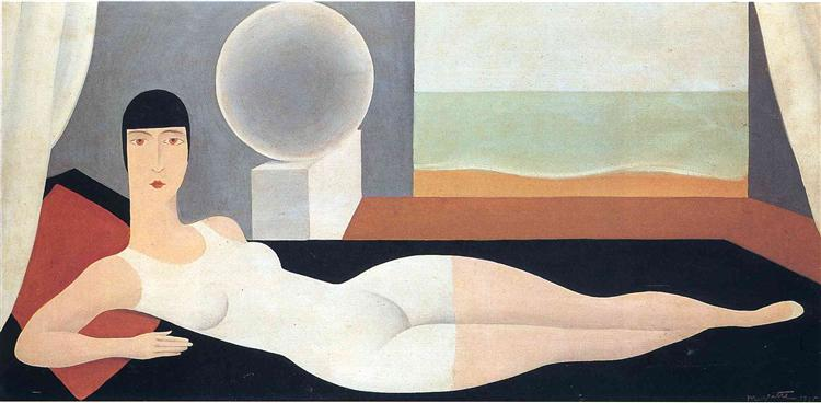Bather, 1925 - Rene Magritte