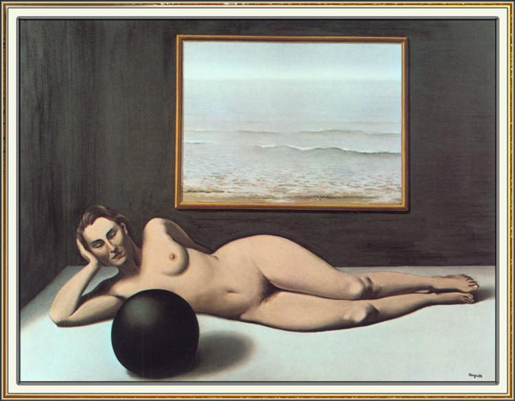 Bather between Light and Darkness, 1935 - Rene Magritte