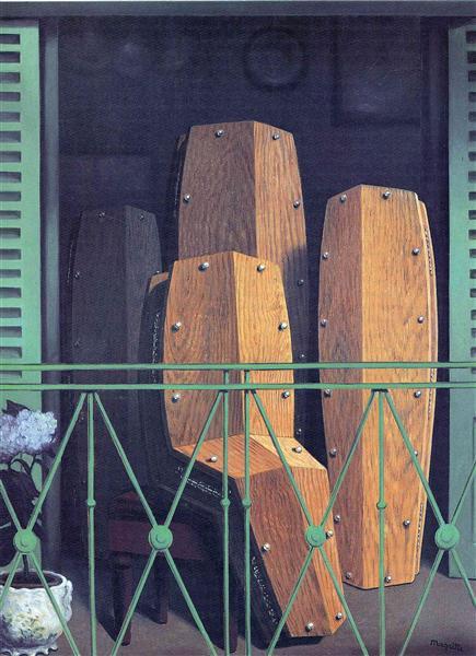 Manet's Balcony, 1950 - Rene Magritte