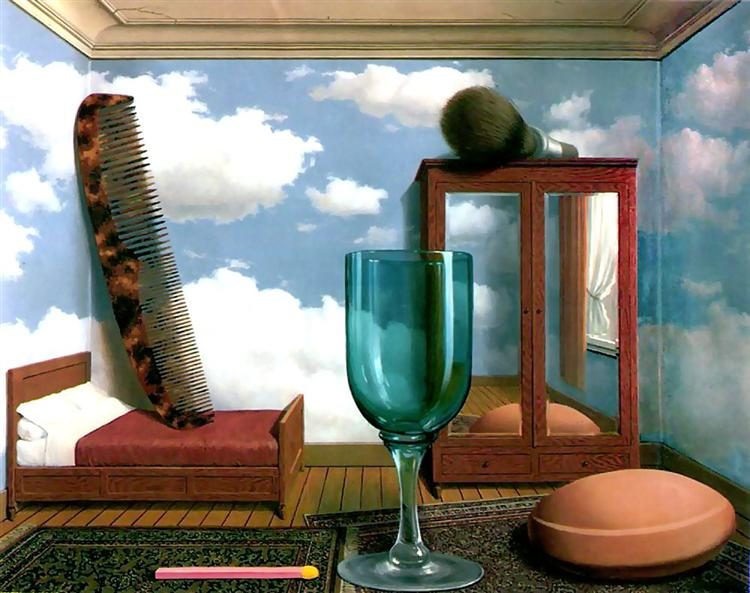 Personal values, 1952 - Rene Magritte