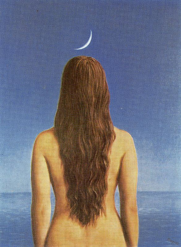 The evening gown, 1954 - Rene Magritte - WikiArt.org
