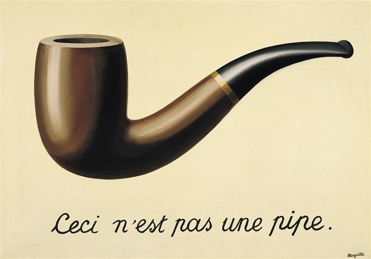 The treachery of images (This is not a pipe), 1948 - Rene Magritte