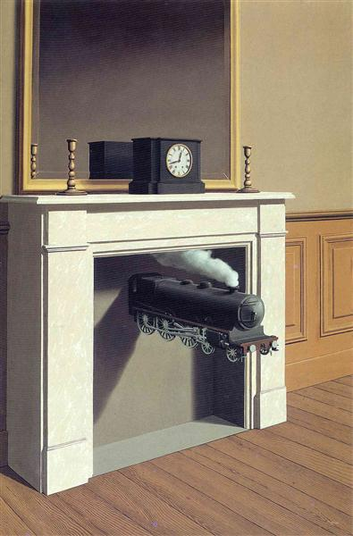 Time transfixed - René Magritte