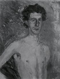 Fragment of a Self-Portrait - Richard Gerstl