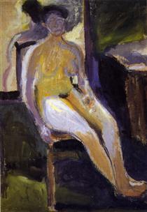 Seated Female Nude - Richard Gerstl