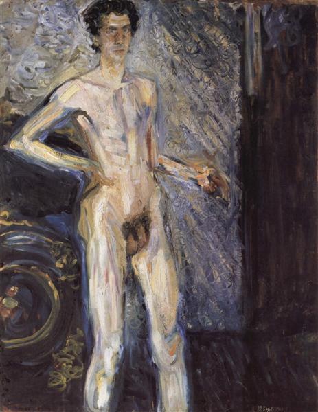 Self Portrait (Nude in a full figure), 1908 - Richard Gerstl