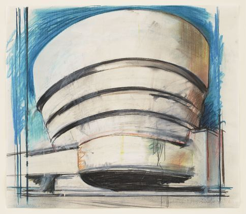 The Solomon R. Guggenheim -  Architect's visual, 1965 - Richard Hamilton