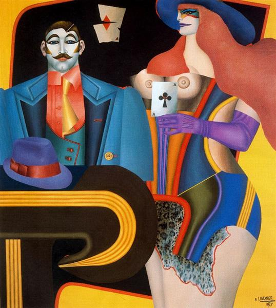 The Ace of Clubs, 1973 - Richard Lindner