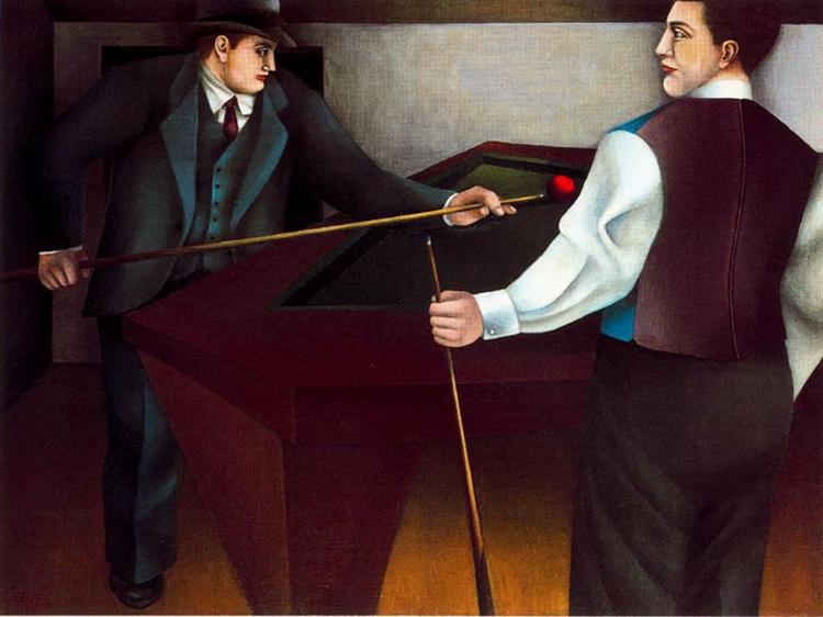 The Billiard, 1955 - Richard Lindner
