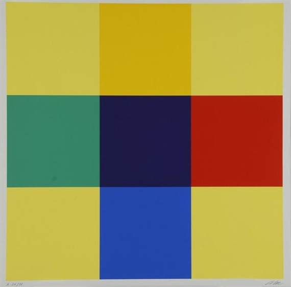 Kreuz aus Gleichung und Kontrast, 1975 - Richard Paul Lohse
