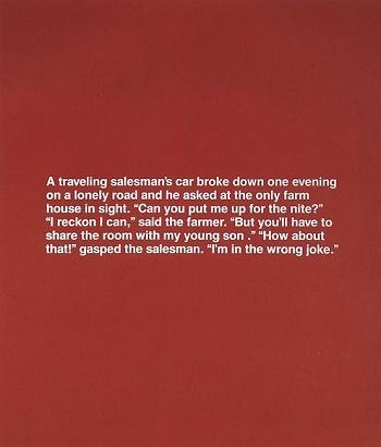 Untitled (Monochromatic Joke), 1987 - Richard Prince
