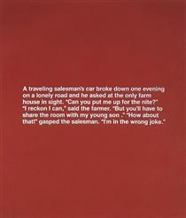 Untitled (Monochromatic Joke) - Richard Prince