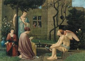 Reading of Love, He being by - Robert Bateman