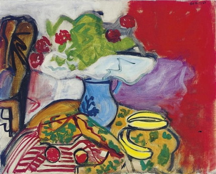 Still life of fruit and flowers on a table, 1961 - Robert De Niro, Sr.