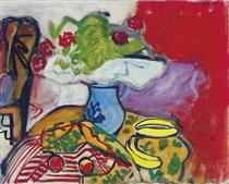 Still life of fruit and flowers on a table - Роберт Де Ніро - старший