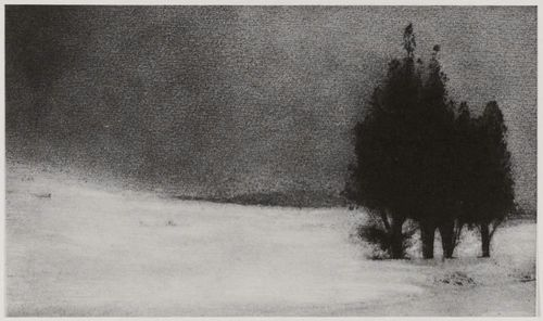 Three Trees in a Snowy Landscape - Robert Demachy
