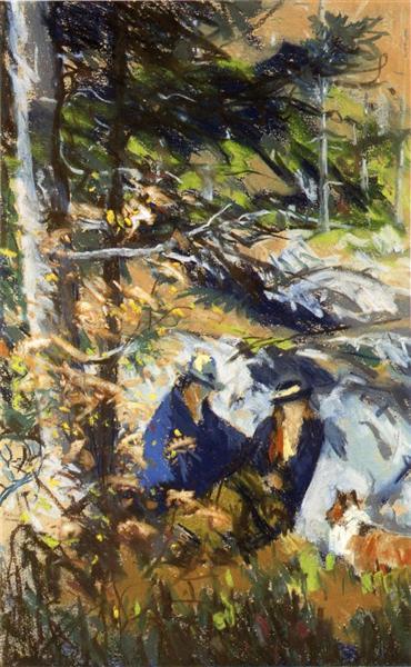 Among the Rocks, Monhegan Island, Maine, 1918 - Robert Henri