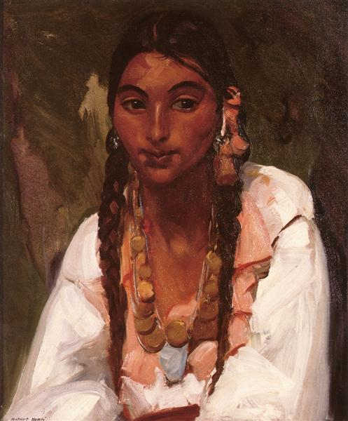 Gypsy Girl in White, 1916 - Robert Henri