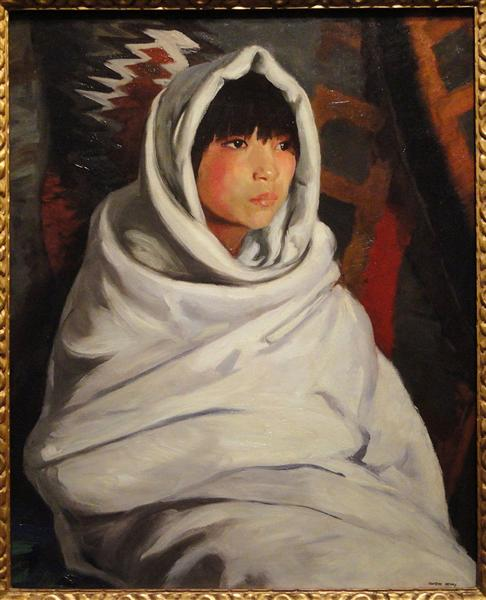 Indian Girl in White Blanket, 1917 - Robert Henri