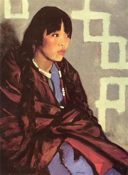 Indian Girl of San Ildefonso, 1917 - Robert Henri