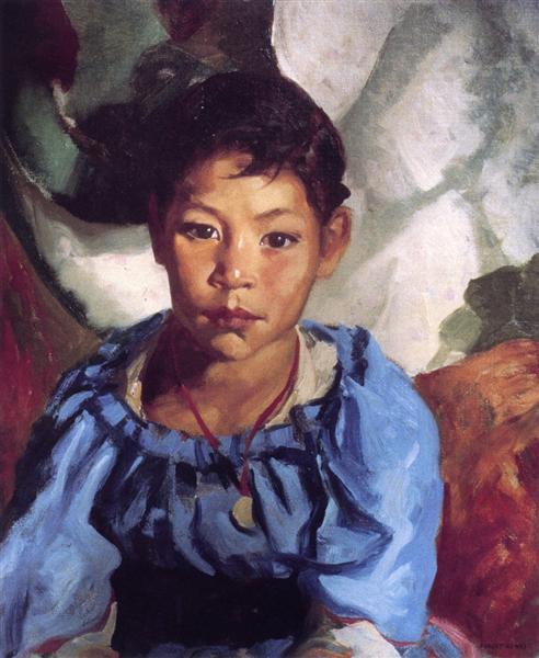 Juanita (also known as Juanita in Blue), 1917 - Роберт Генрі