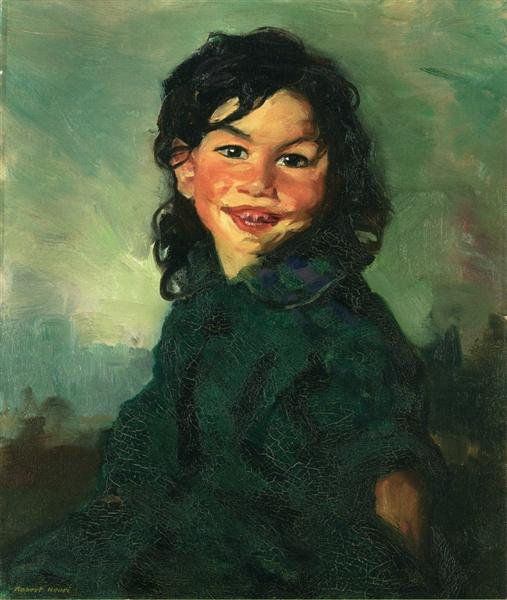 Laughing Gypsy Girl, 1915 - Robert Henri