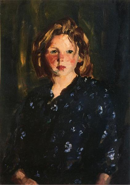 Portrait of a Young Girl - Robert Henri