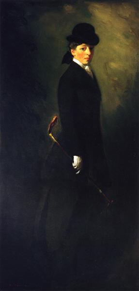 Portrait of Miss Leora Dryer in Riding Costume, 1902 - Robert Henri