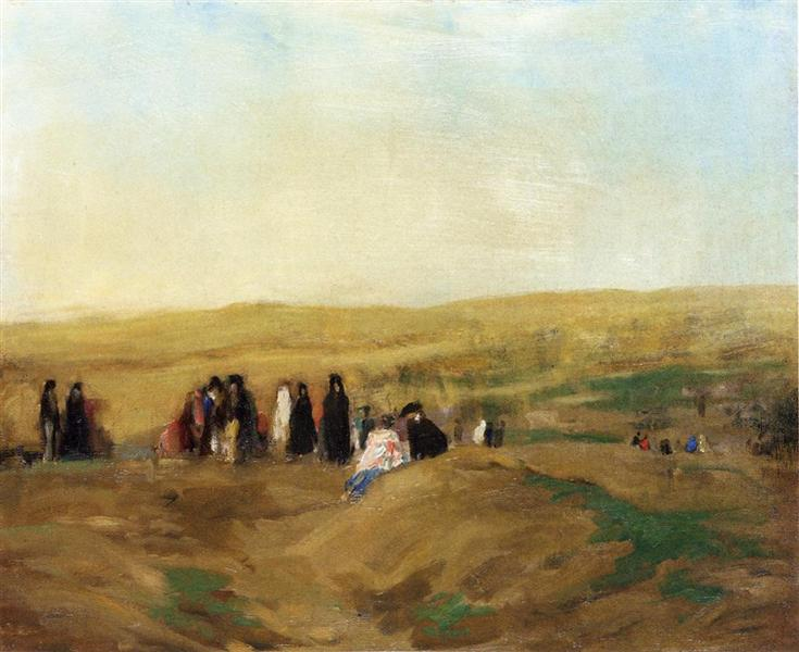 Procession in Spain (also known as Spanish Landscape with Figures), 1906 - Robert Henri