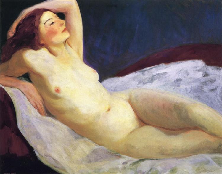 Reclining Nude (Barbara Brown), 1916 - Robert Henri