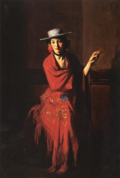 Spanish Dancer - The Cigarette, 1904 - Robert Henri