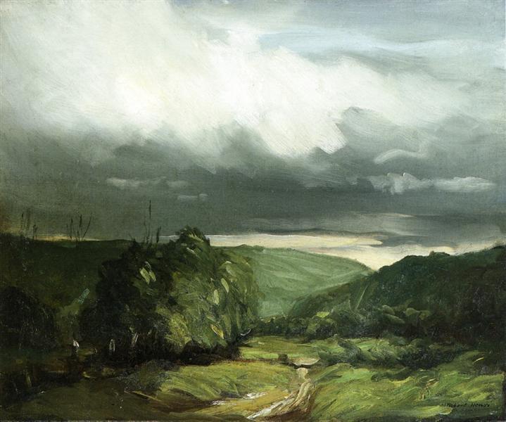 Storm Weather - Wyoming Valley, 1902 - Robert Henri