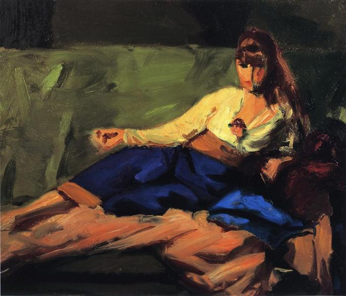 The Lounge (Figure on a Couch), 1916 - Robert Henri