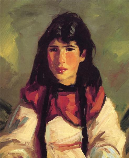 Tilly (also known as Portrait of Tilly), 1917 - Robert Henri