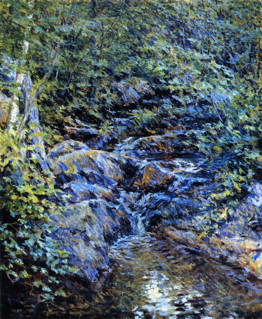 Landscape with Waterfall 1890 Robert Lewis Reid WikiArt